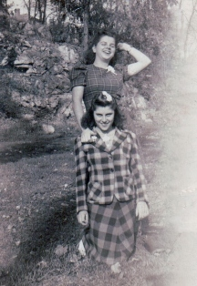 My mom and I think her sister  my Aunt Eva kneeling